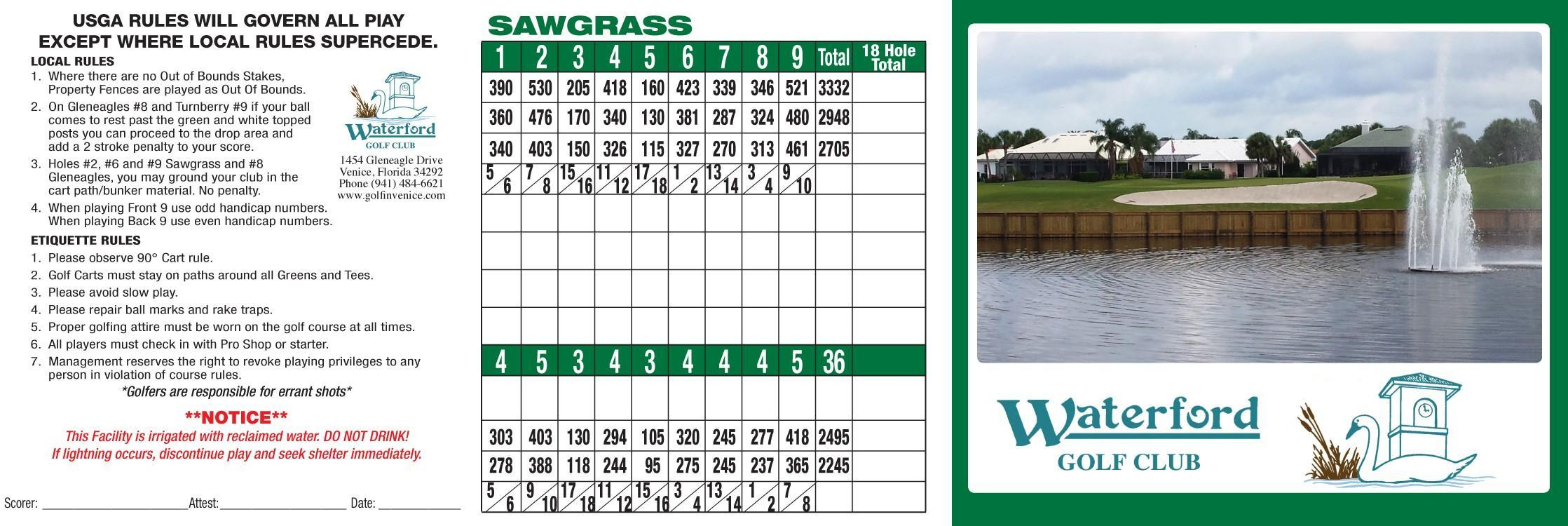 Waterford sawgrass 2018